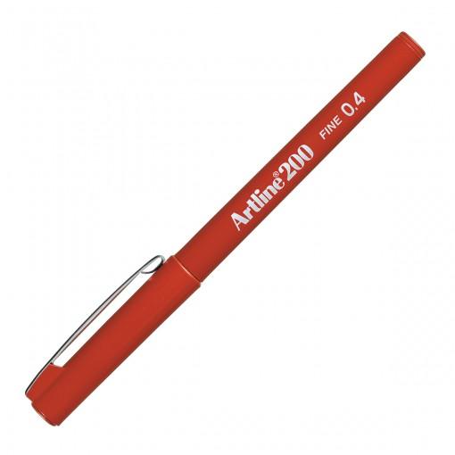 Caneta Hidrográfica 0.4mm EK-200 Artline Vermelha-Escura