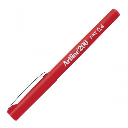 Caneta Hidrográfica 0.4mm EK-200 Artline Vermelha