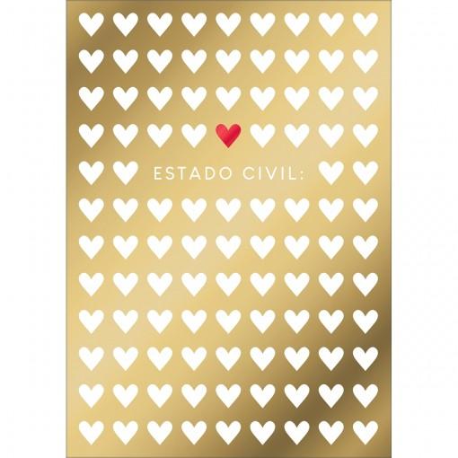 Cartão By Grafon's Amor Estampa Estado Civil
