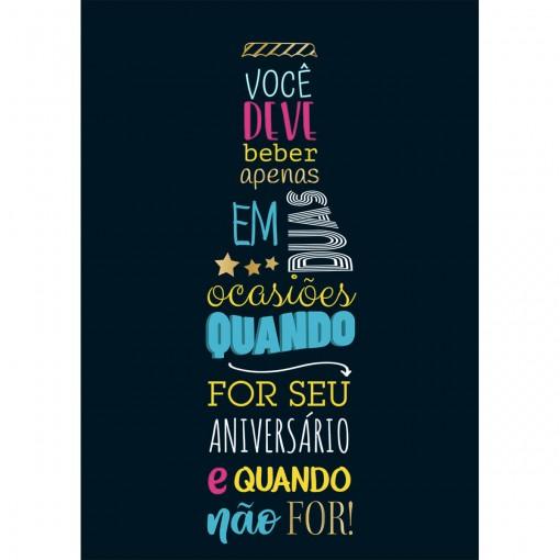 CARTÃO BY GRAFON'S ANIVERSÁRIO ESTAMPA garrafa lettering