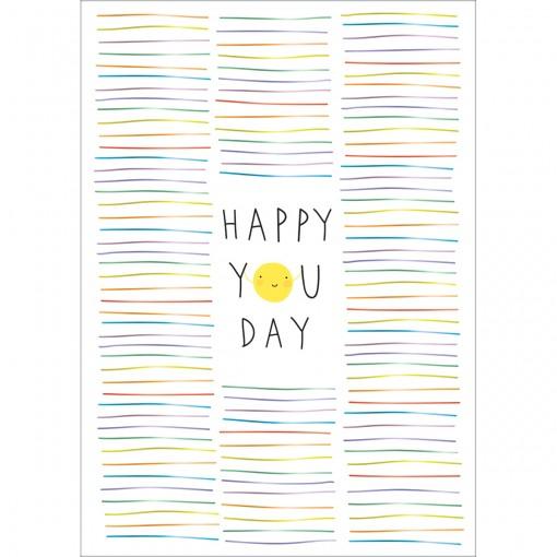 Cartão By Grafon's Aniversário Estampa Happy You Day