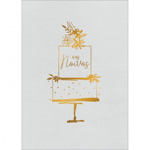 Cartão By Grafon's Casamento Estampa Bolo Aos Noivos