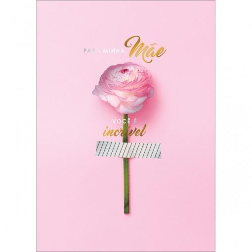 Cartão By Grafon's Mães Estampa Botão De Rosa