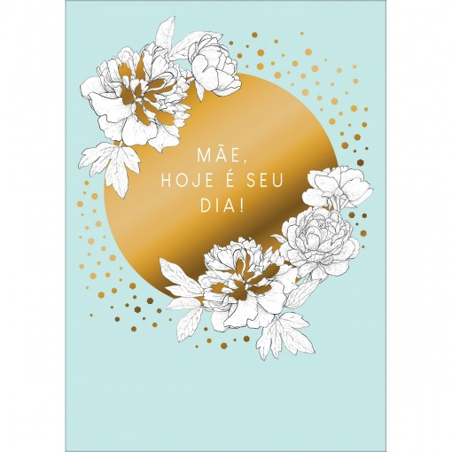 Cartão By Grafon's Mães Estampa Flores Brancas