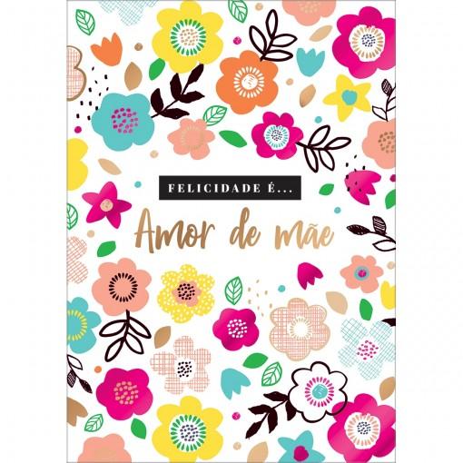 Cartão By Grafon's Mães Estampa Flores Coloridas
