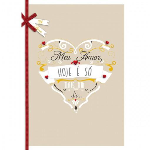 Cartão Handmade Beauty Amor Estampa Coração Apaixonado - Grafon's