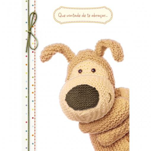 Cartão Handmade Beauty Amor Estampa Urso Abraço- Grafon's