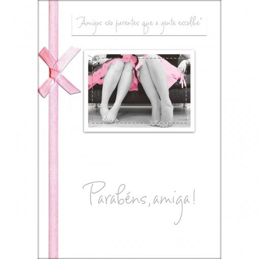 Cartão Handmade Beauty Aniversário Estampa Amigas - Grafon's