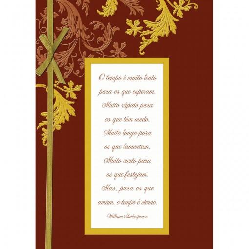Cartão Handmade Beauty Casamento Estampa Casal Especial laço - Grafon's