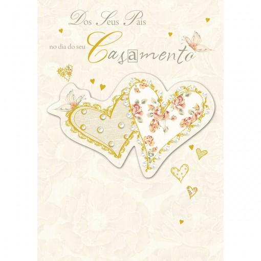 Cartão Handmade Beauty Casamento Estampa Dos Pais para os Noivos - Grafon's