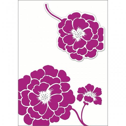 Cartão Handmade Beauty Casamento Estampa Flor Lilás - Grafon's