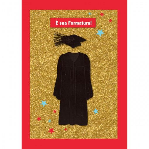 Cartão Handmade Beauty Formatura Estampa Beca- Grafon's
