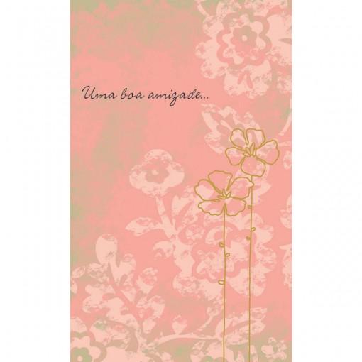 Cartão Magic Moments Amizade Estampa Flor- Grafon's