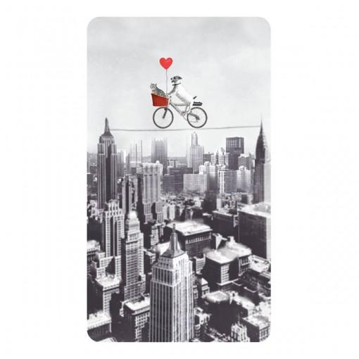 Cartão Magic Moments Amor Estampa Bicicleta cidade - Grafon's
