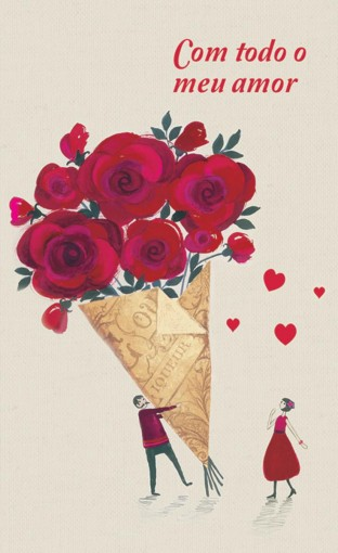 Cartão Magic Moments Amor Estampa Buque de flores - Grafon's