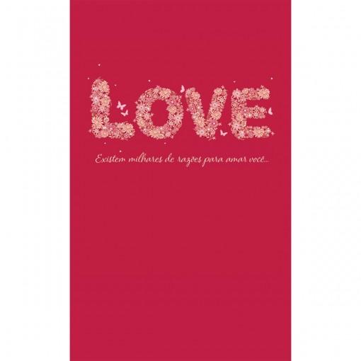 Cartão Magic Moments Amor Estampa Love flores - Grafon's