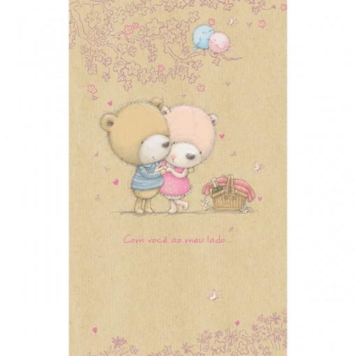 Cartão Magic Moments Amor Estampa Ursos Casal - Grafon's