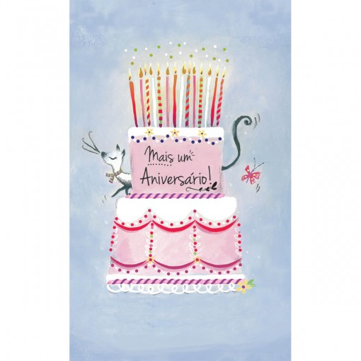 Cartão Magic Moments Aniversário Estampa Bolo mais um aniversário - Grafon's