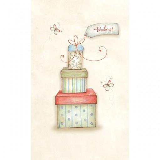 Cartão Magic Moments Aniversário Estampa Presentes parabéns - Grafon's