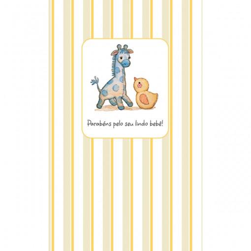 Cartão Magic Moments Nascimento Estampa Girrafa listras - Grafon's