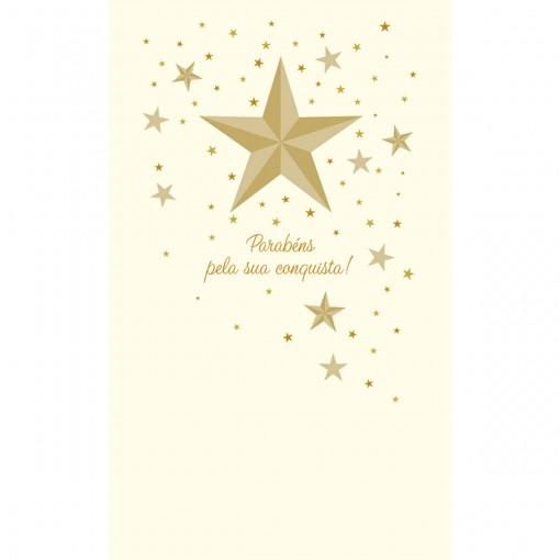 Cartão Magic Moments Sucesso Estampa Estrela- Grafon's