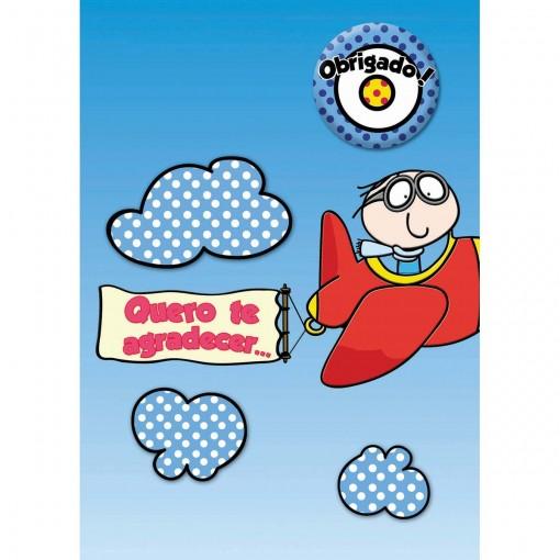 Cartão Teen Agradecimento c/ botton