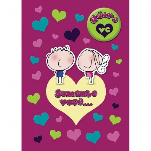 Cartão Teen Amor c/ botton (615293)