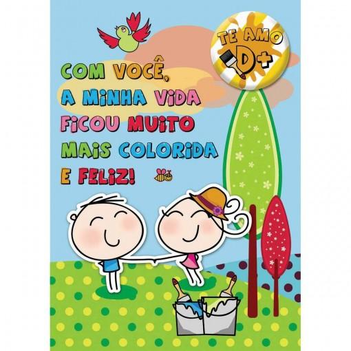 Cartão Teen Amor c/ botton (615366)