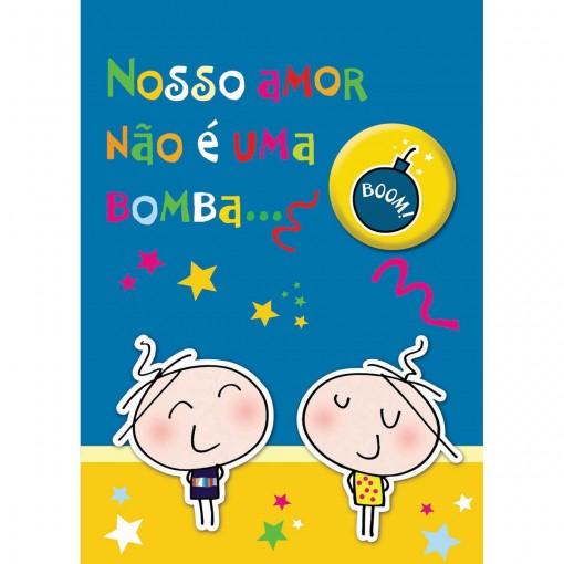 Cartão Teen Amor c/ botton (615421)