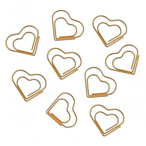 Clips Coração Dourado 20 Unidades