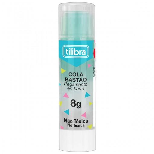 Cola em bastão 8g Transparente Colorida - Sortido