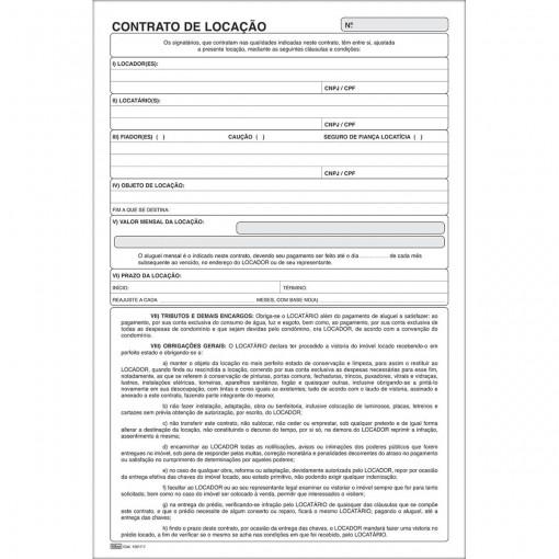 Contrato de Locação - 100 Folhas