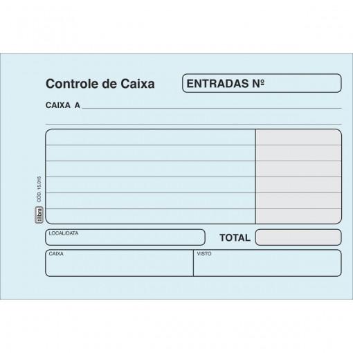 Controle de Caixa Entrada Azul - 100 Folhas (Pacote com 20 unidades)