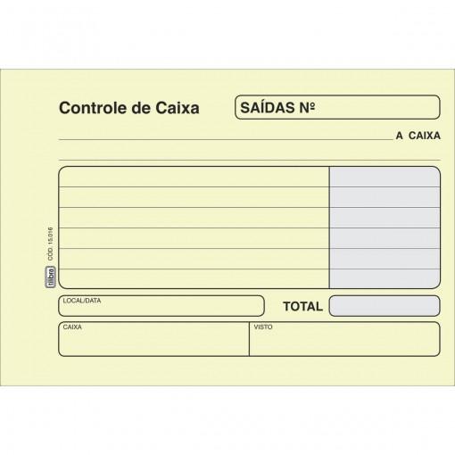 Controle de Caixa Saida Amarela - 100 Folhas