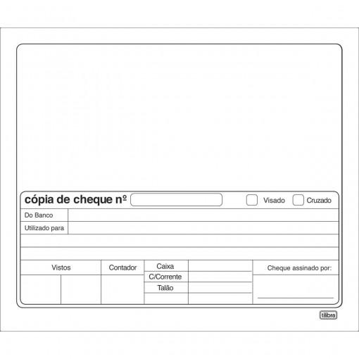 Copias De Cheque Branco - 100 Folhas (Pacote com 10 unidades)