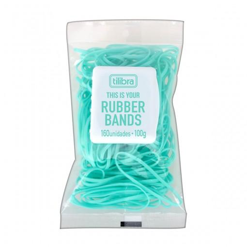 Elástico Colorido Aqua - Bag com 160 Unidades