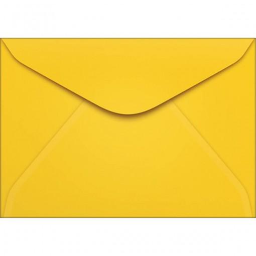 Envelope Carta TB11 Amarelo 114x162mm - Caixa com 100 Unidades