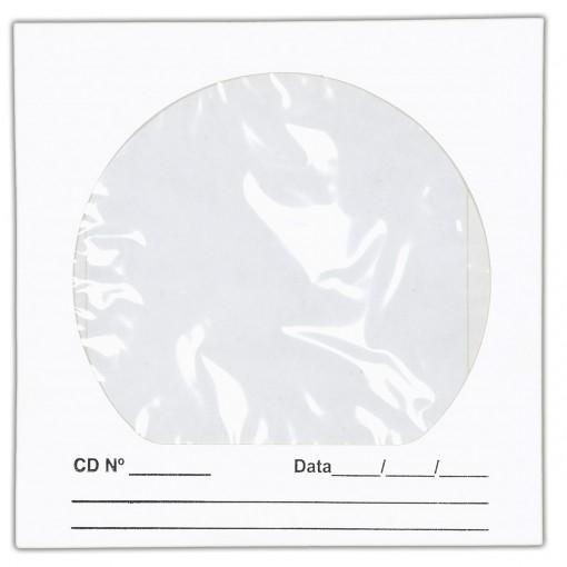 Envelope para CD/DVD Branco 125x125mm - Caixa com 100 Unidades