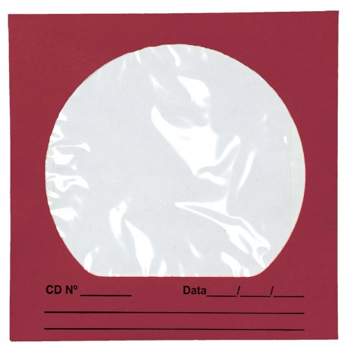 Envelope para CD/DVD Vinho 125x125mm - Caixa com 100 Unidades