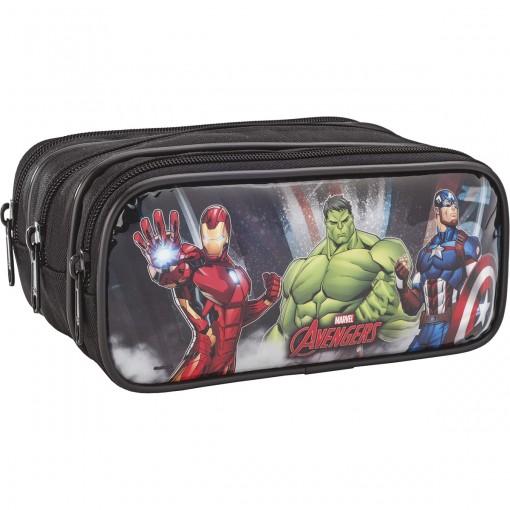 Estojo Triplo Grande Avengers