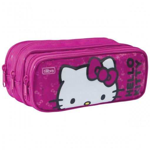 Estojo Triplo Grande Hello Kitty