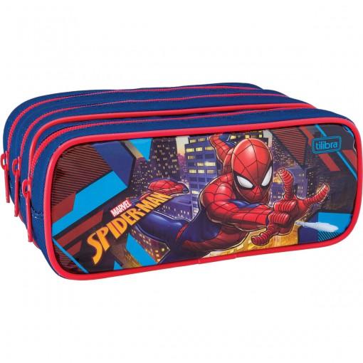Estojo Triplo Grande Spider-Man