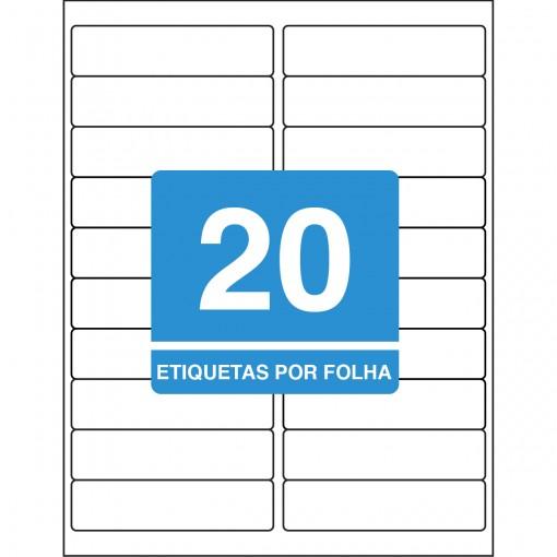 Etiqueta Adesiva Inkjet/Laser Carta 25,4mmx101,6mm TB6281500 Unidades