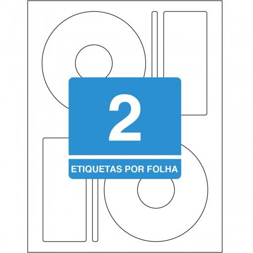 Etiqueta Adesiva Inkjet/Laser CD/DVD 115mm TBCD25B50 Unidades