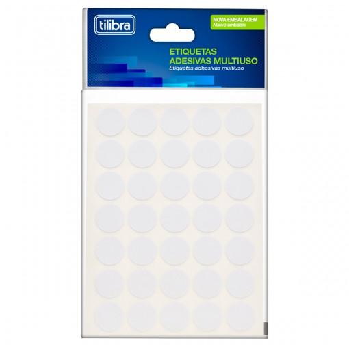 Etiqueta Adesiva Multiuso 13mm Branca 6 Folhas 420 Unidades