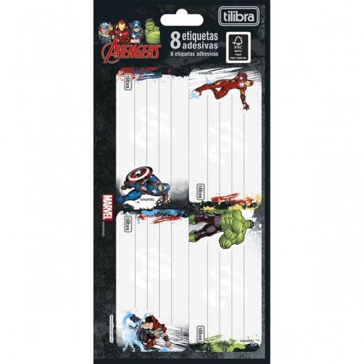 Etiqueta Escolar Adesiva Avengers