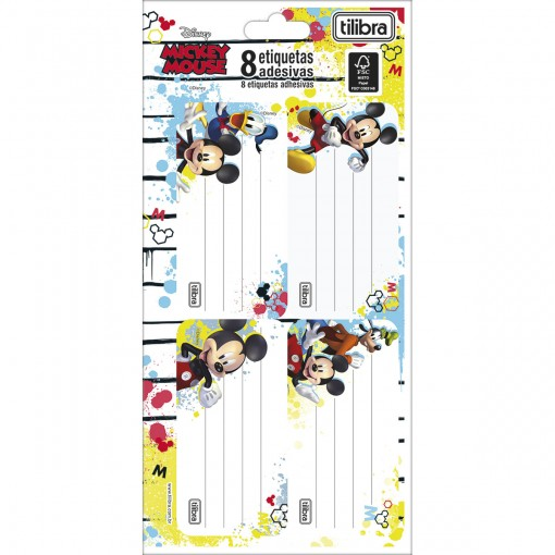 Etiqueta Escolar Adesiva Mickey