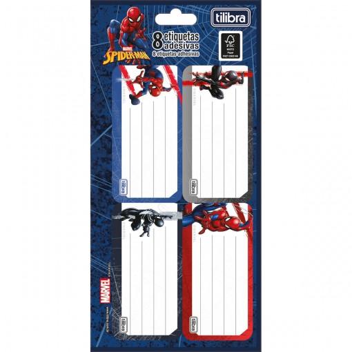 Etiqueta Escolar Adesiva Spider-Man