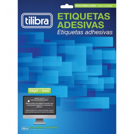 Etiqueta Adesiva Inkjet + Laser Carta 25,4x66,7mm 628025 Folhas 750 Unidades
