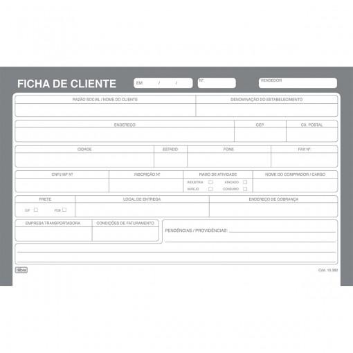 Ficha De Cliente Número 3 - 5x8 100 Folhas